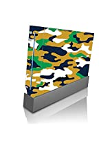 Blue Gold Green Camo Camouflage Wii Console Vinyl Decal Sticker Skin By Moonlight Printing