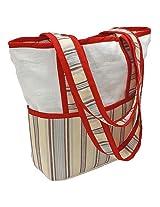 Hoohobbers Tote Diaper Bag, Stellar Stripes