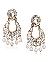 Meenaz Traditional Earrings Fancy Party Wear Kundan Moti Pearl Daimond Earrings For Women - TR127