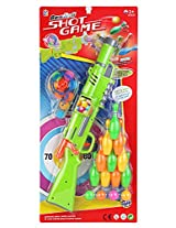 Bowling Shot Gun Toy Game for Kids - With 10 Bowling Pins + 12 Shot Balls - Hours of Targeting Fun