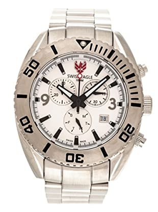 Swiss Eagle Reloj Dive Torpedo blanco