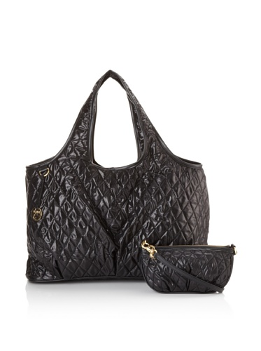 Three by Clava Women's Quilted Tote (Black)