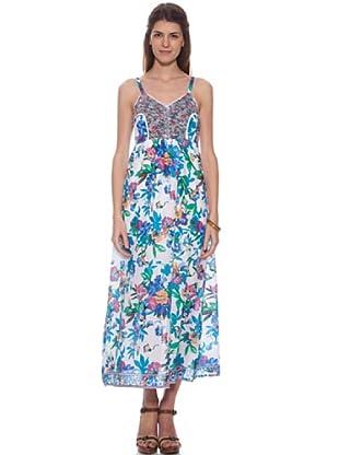 HHG Kleid Acacia (weiß / türkis)