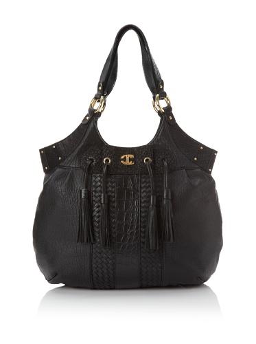 Just Cavalli Women's Tasseled Shoulder Bag, Black