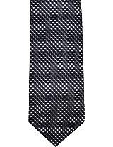 Geoffrey Beene Holiday Dot Natte Tie (One Size, Black)