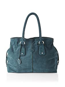 Tod's Women's Large Draw-Top Satchel, Blue