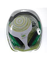 Comfortable Live Pro Gamer Headset With Microphone For Microsoft Xbox 360 Green