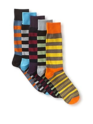 English Laundry Men's Fancy Colorblock - 5 Pack Socks (Assorted)