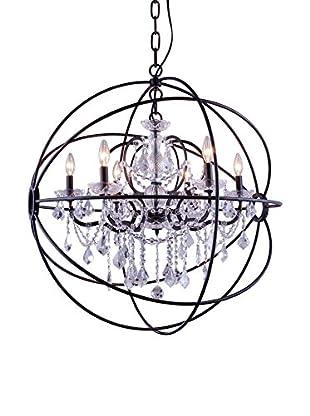 Urban Lights Geneva 6-Light Chandelier, Dark Bronze/Royal Cut Crystal