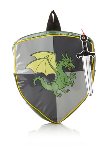 Kidorable Dragon Knight Backpack (Grey/Green)