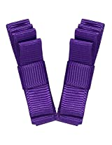 NeedyBee Double deck Hair Clip - Purple (pack of 2)