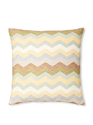 The Pillow Collection Aiome Zig-Zag Decorative Pillow (Pebble)