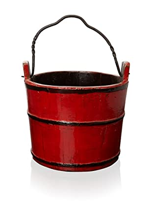 Royola Pacific Wooden Water Bucket (China Red)