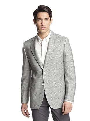 Simon Spurr Men's Checked Sportcoat (Grey)