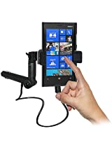 Amzer 95447 Lighter Socket Phone Mount with Charging and Case System for Nokia Lumia 920