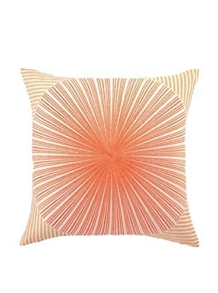 Trina Turk Mod Sunburst Embroidered Pillow (Orange/Red)