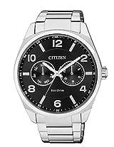 Citizen Eco-Drive Analog Black Dial Men's Watch - AO9020-50E