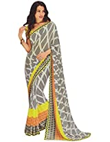 Laxmipati Jannat Women's Georgette And Chiffon Saree (Laxmipati kala Zone 3586_1)