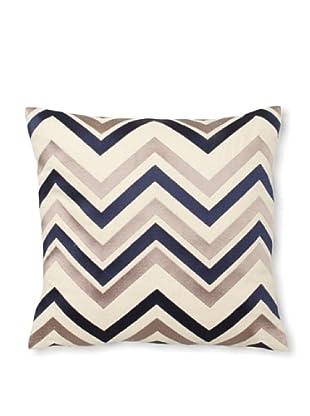 Courtney Cachet Chevron Linen Pillow, Taupe/Navy