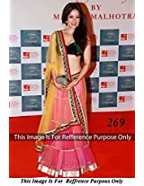 Bollywood Replica Vidya Malvade Net Lehenga In Yellow And Red Colour Nc786