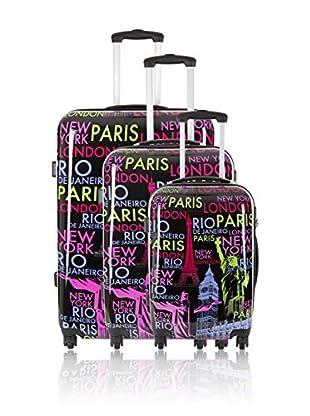 Travel ONE Set de 3 trolleys rígidos Staines Multicolor