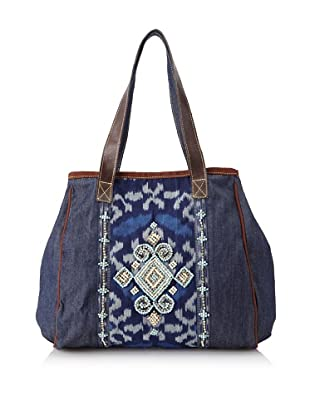Mare Sole Amore Women's Athens Tote Bag (Blue/Blue)