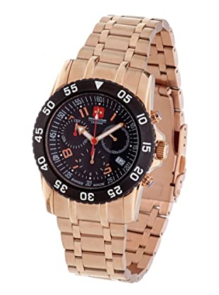 Swiss Military 065C6R - Reloj de Caballero movimiento de cuarzo con brazalete metálico Oro Rosado