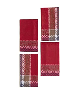 Garnier-Thiebaut Set of 4 Romance Napkins (Framboise)