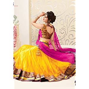Amazing Yellow Color Wedding Lehenga Choli Set