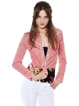 Guess Camisa Cuadro (Blanco / Rojo)