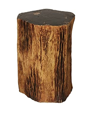 Control Brand Good Form Tree Trunk Smoking Table with Petrified Inlay Top, Natural
