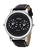Exotica Black Dial Analogue Watch for Men (EF-87-Dual-Black)