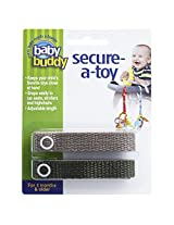 Baby Buddy 2 Count Secure-A-Toy, Tan/Olive
