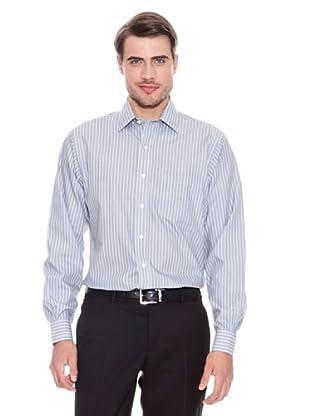 Brooks Brothers Camisa Vestir Lucas (Gris / Blanco)