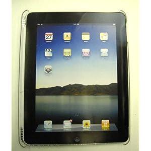 iPad/アップル アイパッド用デコレーションハードカバー シルバー&ブルービーズ飾り