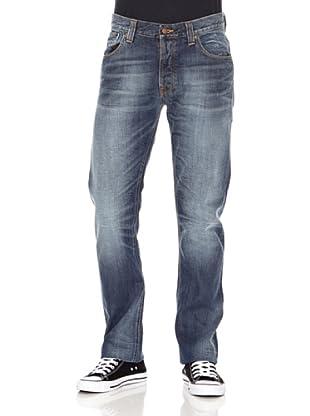 Nudie Jeans Pantalón Hank Rey (Azul used)