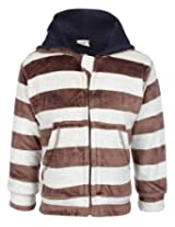 Baby Hug Full Sleeves Hooded Jacket With Front Pockets - Stripes Print
