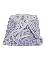 Cotton Nappy Set -Violet Bloom (Pack of 4) 0m+ Multicolor