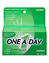 One A Day All Day Energy Tablets - 50 each
