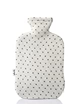 PLUCHI HAIL White 100 % cotton & Knitted Hot water Bottle cover