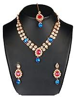 Kundan Rajwadi Necklace Set And Earring Wedding Jewelry