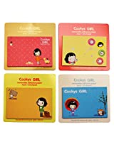 Cookys Girl removable Adhesive paper sticky notes Set of 4