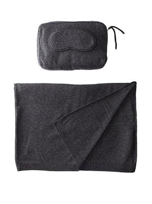 Sofia Cashmere Romagna Jersey Knit Travel Set (Charcoal)