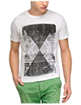 Yepme Men's White Graphic Cotton T-shirt -YPMTEES0098_S