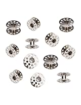 10pcs Metal Rotary Bobbins for Household Sewing Machine (Silver).