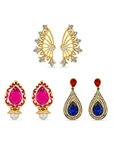 Gold Plated Designer Earrings for Women Combo-2287