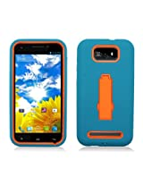 Aimo Wireless Layer, 3-in-1 with Stand for BLU Studio 5.5 D610a - Retail Packaging - Turquoise/Orange
