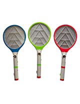 KS Mosquito Killer Bat Rechargeable Electronic Racket Zapper Swatter Bug Insect FLY with Led Torch (1 Pc)