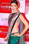 Deepika Padukone Rama Color Bollywood Replica Saree