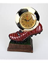 Limited Edition Imported Table Clock ~ Football / Soccer Trophy with Realistic Detailing